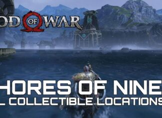 god of war shores of nine collectibles